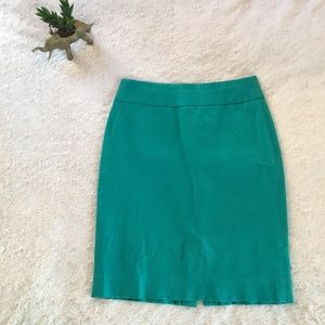 Banana Republic teal Sloan pencil skirt - 2